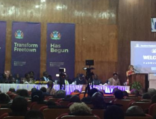 Chair's Visit Report from the #TransformFreetown launch in Freetown.